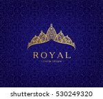 abstract luxury  royal golden... | Shutterstock .eps vector #530249320