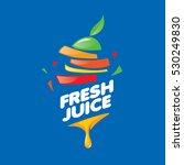 logo of fresh juice   Shutterstock .eps vector #530249830