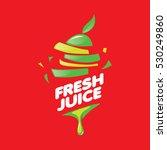 logo of fresh juice   Shutterstock .eps vector #530249860