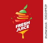 logo of fresh juice   Shutterstock .eps vector #530249929
