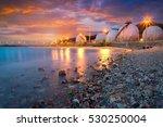 natural gas storage tanks   oil ... | Shutterstock . vector #530250004