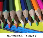 crayons in the sunshine   Shutterstock . vector #530251