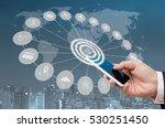 business man using blue screen... | Shutterstock . vector #530251450