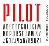 narrow sanserif stencil plate... | Shutterstock .eps vector #530253700