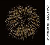 firework gold isolated.... | Shutterstock .eps vector #530254924