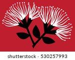 pohutukawa flowers | Shutterstock .eps vector #530257993