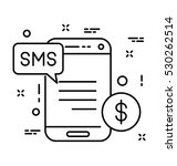 sms banking vector icon | Shutterstock .eps vector #530262514
