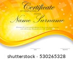 certificate of completion... | Shutterstock .eps vector #530265328