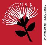 pohutukawa flower | Shutterstock . vector #530265589