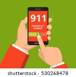 emergency call 911 concept.... | Shutterstock .eps vector #530268478