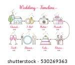 wedding timeline infographic  | Shutterstock .eps vector #530269363