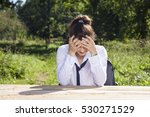 despair when talking about work | Shutterstock . vector #530271529