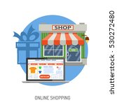 online internet shopping... | Shutterstock .eps vector #530272480