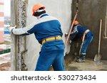 construction worker. builders... | Shutterstock . vector #530273434