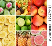 colorful fresh summer fruits... | Shutterstock . vector #530274454