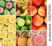 colorful fresh summer fruits... | Shutterstock . vector #530274454