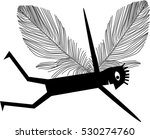 man with wings | Shutterstock .eps vector #530274760