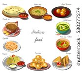 indian cuisine set. collection... | Shutterstock .eps vector #530277274