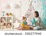 happy loving family. mother and ... | Shutterstock . vector #530277940