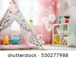 spacious children room with... | Shutterstock . vector #530277988