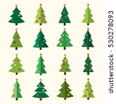 christmas tree cartoon icons... | Shutterstock . vector #530278093