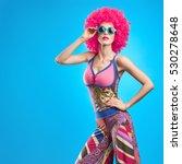 fashion model woman  stylish... | Shutterstock . vector #530278648