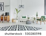 spacious white room with... | Shutterstock . vector #530280598