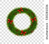christmas wreath decoration... | Shutterstock .eps vector #530281036