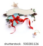 christmas holiday decoration ...   Shutterstock . vector #530281126