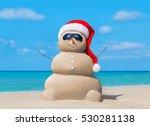 Happy Sandy Snowman In...