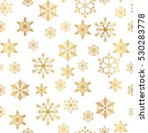golden snowflake simple... | Shutterstock .eps vector #530283778