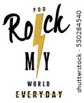 shine rock music slogan and... | Shutterstock .eps vector #530284540