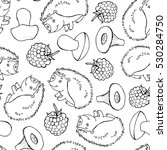 seamless doodle pattern with... | Shutterstock .eps vector #530284750