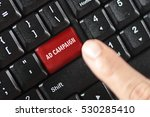 Small photo of ad campaign words on red keyboard button