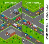 street traffic isometric... | Shutterstock . vector #530287660