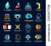 brain works team balance social ... | Shutterstock . vector #530287708
