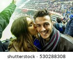 selfie portrait of young couple ... | Shutterstock . vector #530288308