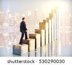 side view of businessman... | Shutterstock . vector #530290030
