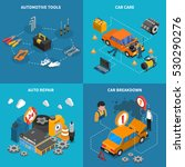 isometric isolated icon set... | Shutterstock . vector #530290276