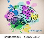 close up of creative colorful... | Shutterstock . vector #530292310