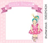 little princess unicorn... | Shutterstock .eps vector #530292424