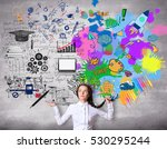 creative and analytical... | Shutterstock . vector #530295244