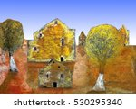 oil painting   house in the... | Shutterstock . vector #530295340