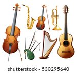 different types of musical... | Shutterstock .eps vector #530295640