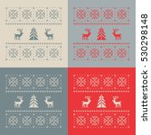 christmas set of 4 cards.... | Shutterstock .eps vector #530298148