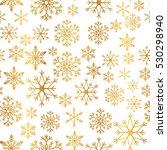 golden snowflake simple...   Shutterstock .eps vector #530298940
