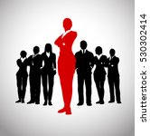 bold leader of a successful... | Shutterstock .eps vector #530302414
