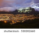 table mountain illuminated at... | Shutterstock . vector #530302660