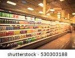 blurred beverage display on... | Shutterstock . vector #530303188