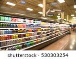 blurred beverage display on... | Shutterstock . vector #530303254